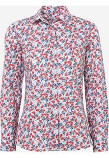 f67f3f57f ... Camisa Dudalina Manga Longa Tricoline Estampado Feminina (Estampado, 44)