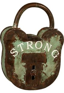 Porta-Chaves Cadeado De Metal Strong