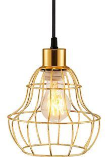 Pendente Para Iluminação Industrial Metal Latão 4985 - Mart - Dourado