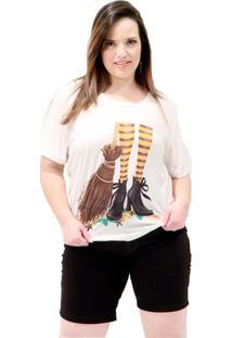 Camiseta Vassoura De Bruxa Plus Size