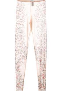 Dsquared2 Legging Floral Com Transparência - Neutro