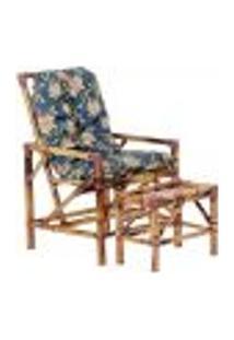 Conjunto Mesa E Cadeira De Bambu Cancun Para Área Edicula Jardim G08