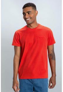 Camiseta Pocket Masculina Mumo - Masculino-Laranja