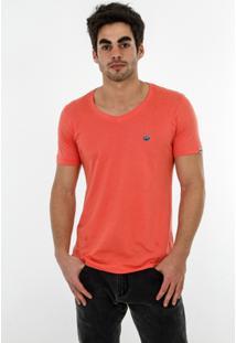 Camiseta Romeo Store Ride Hard Slim Fit - Masculino-Laranja