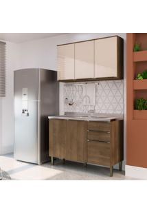 Cozinha Compacta Áustria 5 Pt 3 Gv Marrom