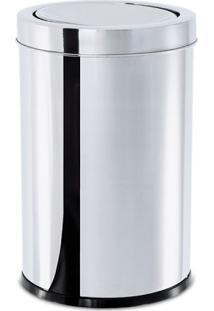Lixeira Inox Basculante Decorline 25X46Cm Brinox 3032/203