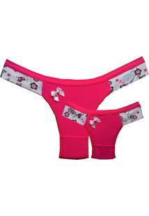 Calcinhas Linea Cotton, Tal Mãe Tal Filha Monique, Pink