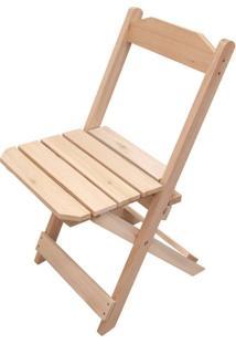 Cadeira Dobrável P/ Bar E Restaurante Madeira Natural