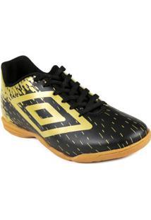 Tênis Futsal Masculino Umbro Acid Preto/Dourado