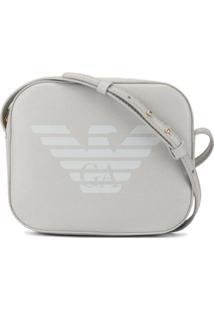 Emporio Armani Bolsa Tiracolo Com Estampa De Logo - Cinza