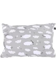 Travesseiro Fom Mini Carneirinhos Cinza