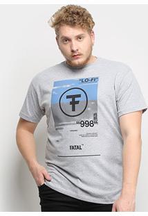 Camiseta Fatal Lo-Fi 998 Plus Size Masculina - Masculino-Mescla