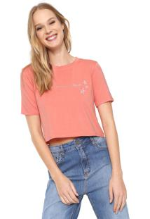 Camiseta Cropped Acrobat Empoderada Agosto Coral