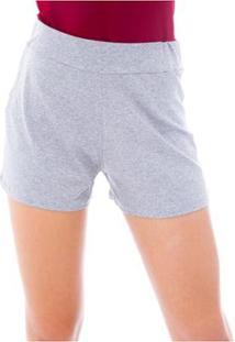 Shorts Moda Vicio De Malha - Feminino-Mescla