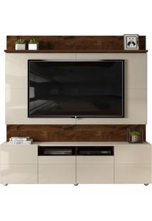 Home Quadrus Para Tv De Até 65' - Rústico Malbec Com Offwhite