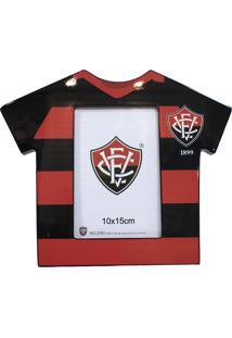 Porta Retrato Minas De Presentes Camisa Futebol Foto 10X15Cm - Vitória Colorido