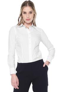 Camisa Dudalina Estampada Branca