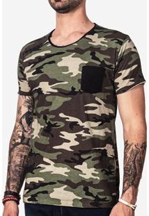 Camiseta Hermoso Compadre Militar Masculina - Masculino-Preto