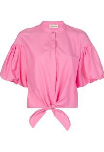 Nicholas Tied Front Shirt - Rosa