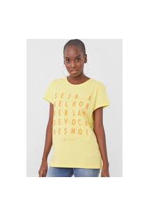 Camiseta Colcci Melhor Versão Amarela