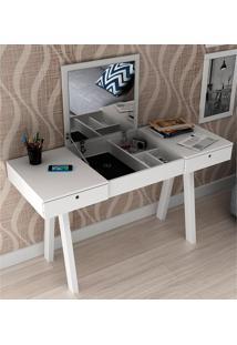 Penteadeira Escrivaninha Com 2 Gavetas Pe2002 - Tecno Mobili - Branco