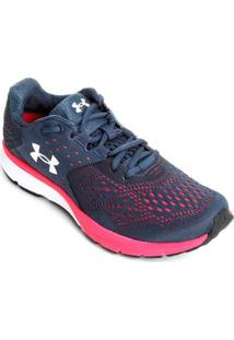 Tênis Under Armour Charged Rebel Sa Feminino - Feminino-Azul+Rosa