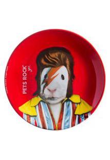 Prato Sobremesa Pets Rock Bowie 20 Cm