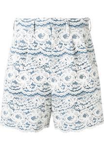 Junya Watanabe Floral Lace Shorts - Azul