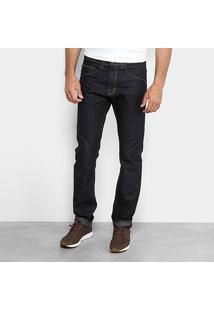 Calça Jeans Lisa Hd Masculina - Masculino-Azul