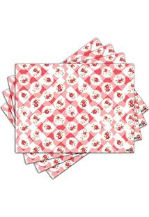 Jogo Americano - Red Cover Com 4 Peças - 327Jo