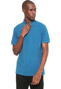 Camisa Polo Forum Reta Lisa Azul
