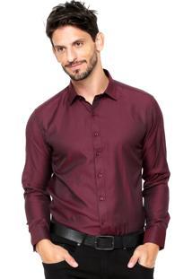 Camisa Vivacci Tressê Vinho