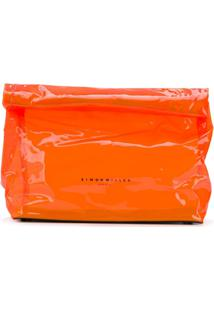 Simon Miller Clutch 'Lunch' Com Logo - Laranja