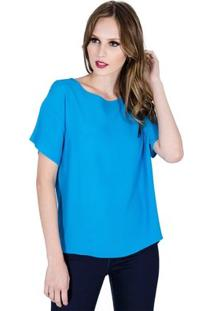 Blusa Básica Colcci Feminino - Feminino-Azul
