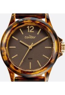 Relógio Feminino Condor - Feminino-Marrom