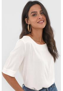 Blusa Dzarm Textura Off-White - Off White - Feminino - Viscose - Dafiti