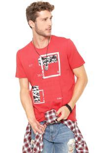 Camiseta Coca-Cola Jeans Regular Coral