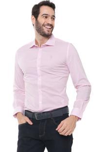 Camisa Forum Reta Square Rosa/Branca