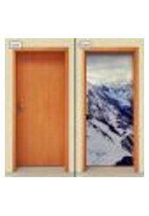 Adesivo Decorativo De Porta - Montanha - Paisagem - 1316Cnpt