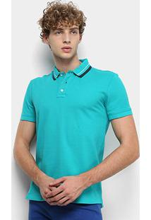 Camisa Polo Tommy Jeans Classics Stretch Masculina - Masculino-Verde