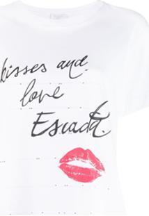 Escada Sport Kisses T-Shirt - Branco