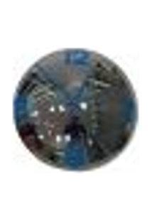 Relógio De Parede Decorativo Espelhado Azul Metal 28X28X10