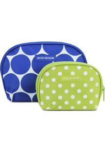 Kit De Nécessaires- Azul & Verde- 2Pçs- Jacki Dejacki Design