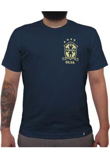 Silva (Brasão Amarelo) - Camiseta Clássica Masculina