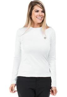 Camisa Térmica Para Frio Manga Longa Com Proteção Solar Extreme Uv - Feminino-Branco