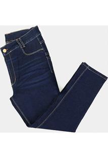 Calça Jeans Sawary Skinny Cropped Plus Size Feminina - Feminino