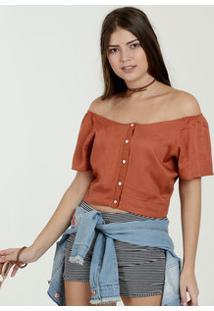 Blusa Feminina Cropped Ombro A Ombro Marisa