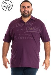 Camisa Polo Konciny Plus Size Vinho