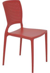 Cadeira Safira- Vermelha- 84,5X43X52Cm- Tramontitramontina