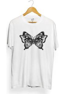 Camiseta Long Beach Mystic Butterfly Masculina - Masculino-Branco